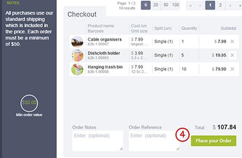 minimum order size